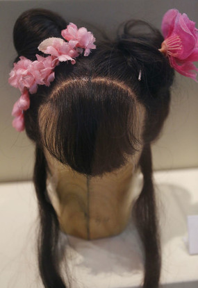 明清女士发式头套