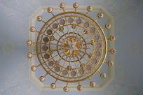 民族文化宫圆形吊灯背景