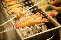 烧烤美食烤虾