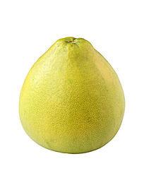 一个绿色柚子