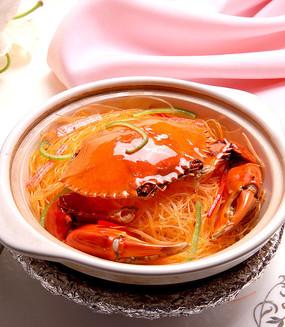 干煸蟹黄粉丝煲