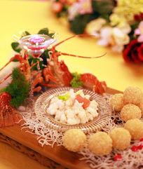 中式餐饮美食虾丸