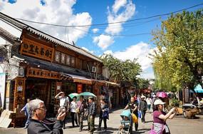 云南古城街道摄影