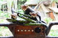 狸猫仿真雕塑像