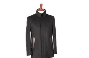 修身版棉服装尼克服黑色