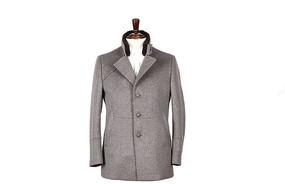修身版棉服装尼克服灰色