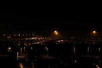 夜色中虹桥立体交通