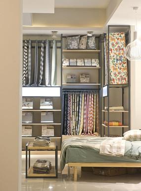 布艺软装窗帘货架展示