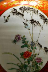 瓷器上的花鸟图