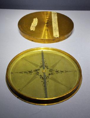 铜镀金指南针