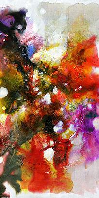 流彩抽象画端景玄关背景墙壁画