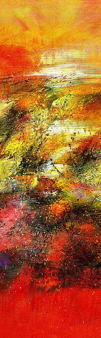 现代风格玄关端景壁画背景墙抽象油画