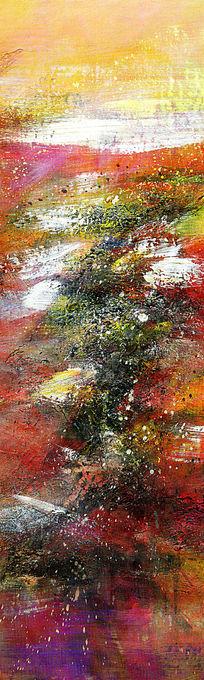 玄关端景壁画背景墙现代风格抽象油画