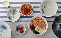 日式手绘陶瓷餐具套装