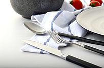 银色拉丝不锈钢刀叉勺图片