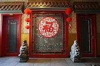 百工坊传统文化背景墙
