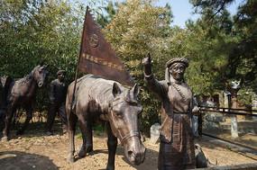 茶马古道塑像