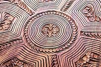花草雕刻面板
