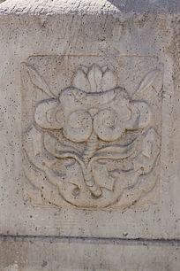传统图案花朵浮雕