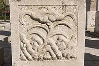 传统图案绿叶浮雕