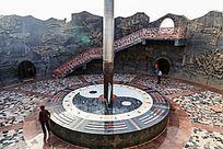 火焰山博物馆金箍棒巨型温度计展台