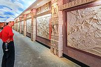 火焰山展馆西游记故事壁雕长廊