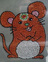 米粒画吉祥卡通鼠