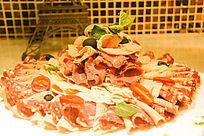 西餐美食海鲜肉卷