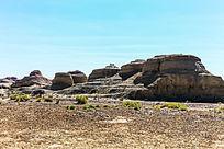 雅丹地貌岩石的魔鬼城自然风光