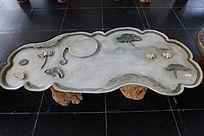 易水荷塘月色图茶海石台