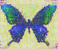 炫彩蝴蝶装饰画