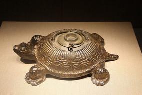 民国鎏铜寿龟东来顺款温酒锡壶