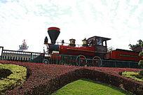 迪斯尼红色小火车