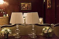 会所酒店大厅客房台灯的摆放