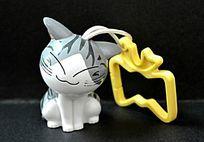 小灰猫挂件