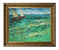梵高油画 帆船 高清油画 装饰油画