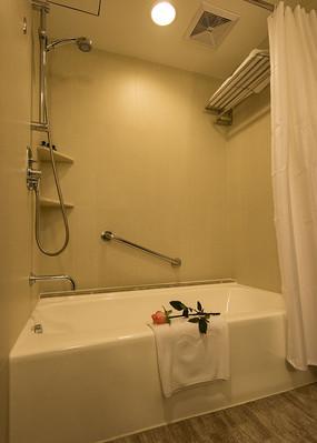 酒店客房卫生间淋浴