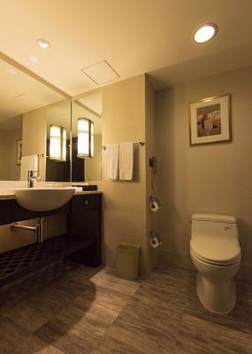 酒店客房卫生间特写