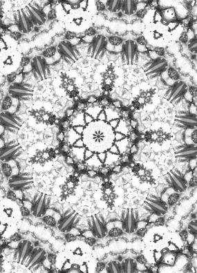 四方連續圖案黑白