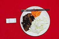白菜炒木耳半成品
