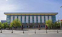 鞍钢体育馆侧面建筑