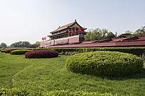 北京天安门远景图