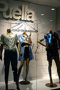橱窗服装模特
