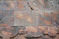 古代美女图雕