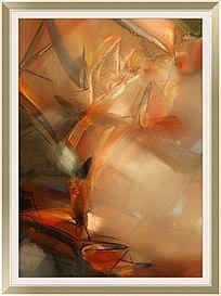 抽象画 时尚抽象装饰画 手绘油画