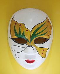 黄蝴蝶图案面具