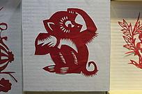 剪纸生肖猴图案