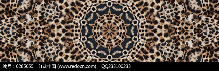 豹纹花型豹纹数码印花图片