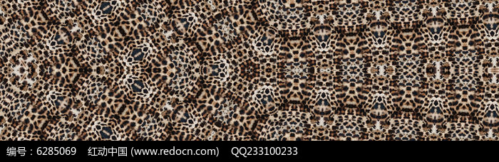 豹纹连续纹样印花图片