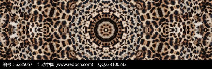 豹纹数码印花图片
